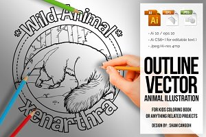 Animal Outline Vector - Xenarthra