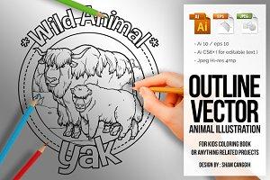 Animal Outline Vector - Yak