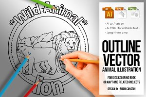 Animal Outline Vector - Lion