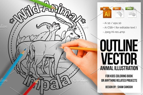 Animal Outline Vector Impala
