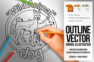 Animal Outline Vector -  Dog