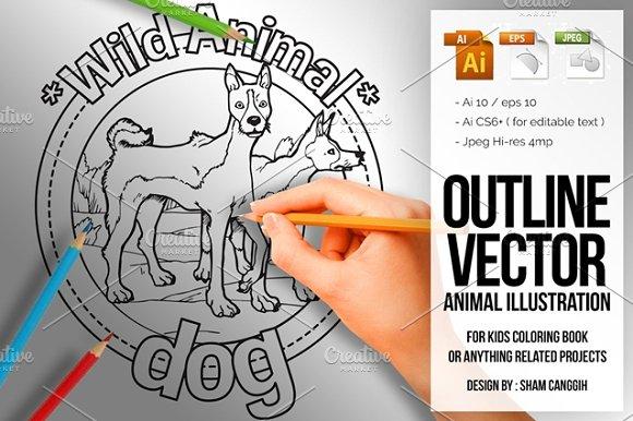 Animal Outline Vector Dog