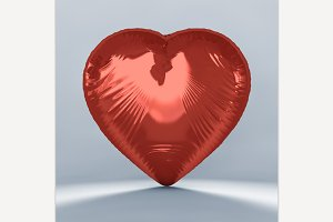 Heart Shaped Red Balloon.
