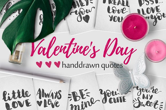 10 Valentine's Day Handdrawn Quotes