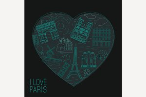 Travel to Paris Concept