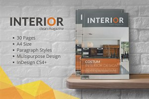 30 Pages • INTERIOR MGZN Template