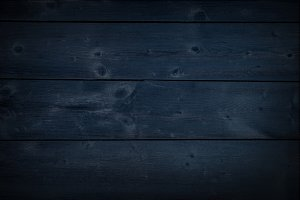 Dark Navy Wooden Background