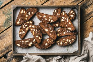 Dark chocolate and sea salt Biscotti