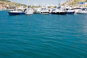 many boats and yachts