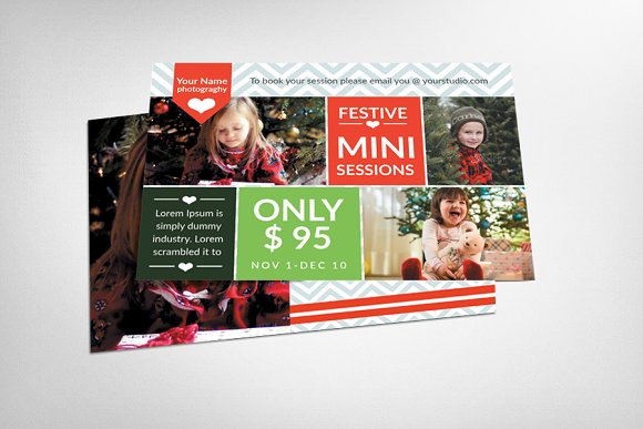 Christmas Mini Session Card Template