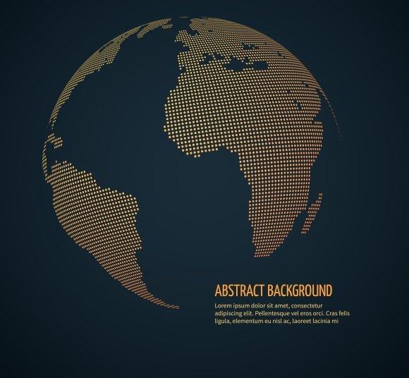 Digital World Globe Concept
