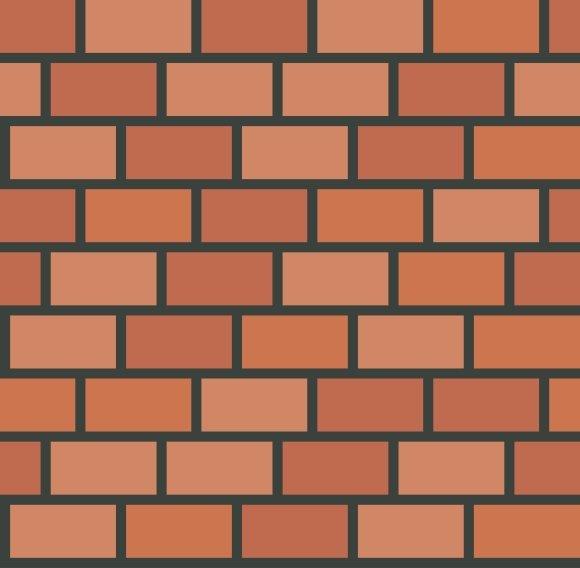 Brick Wall Tile Seamless Pattern