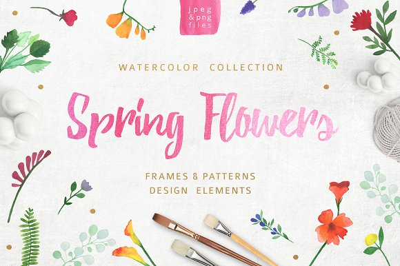 Watercolor Pack Flowers