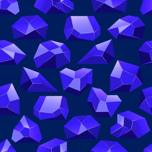 Dark Blue Crystals Seamless Pattern