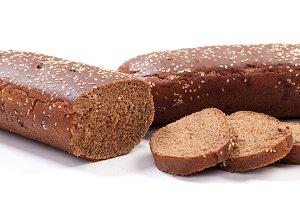 fresh brown sliced long loaf