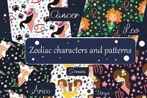 Big set of zodiac