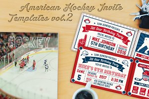 Hockey Invites Print Templates 2
