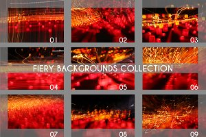 festive fiery backgrounds set