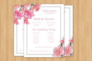 Wedding Program Sign Template