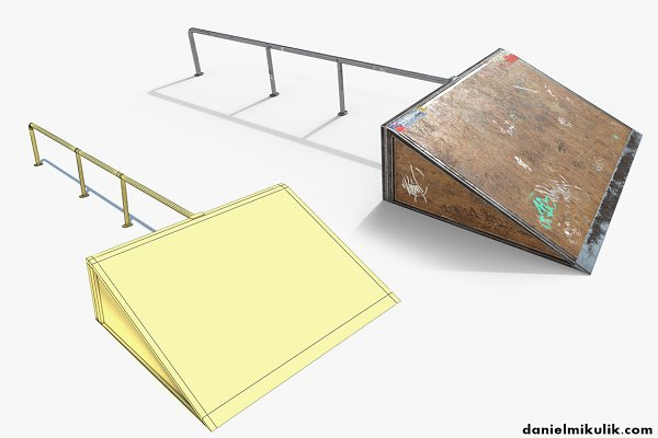 3D Urban: Daniel Mikulik - Small sk8 Ramp PBR Textures