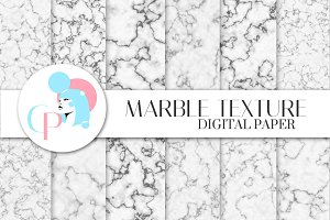 12 Marble Texture Digital Paper