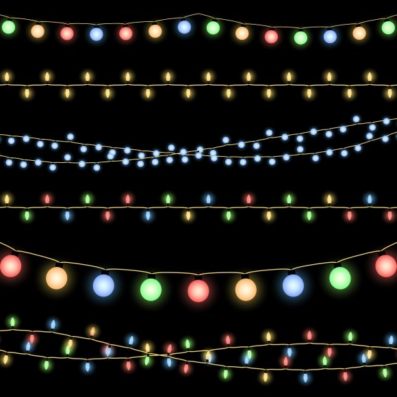 Christmas Garlands Background