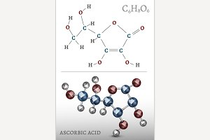 Ascorbic Acid Molecule