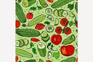 Cucumber Tomato Pattern