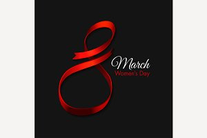 March 8 Ribbon Design