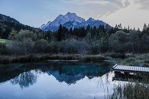 Mountain Reflection in Lake