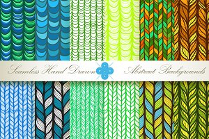 12 Seamless Floral Patterns Set#2