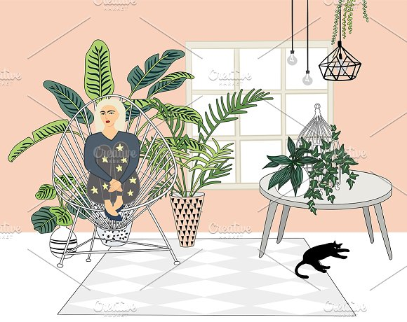 Interior creator in Illustrations - product preview 5