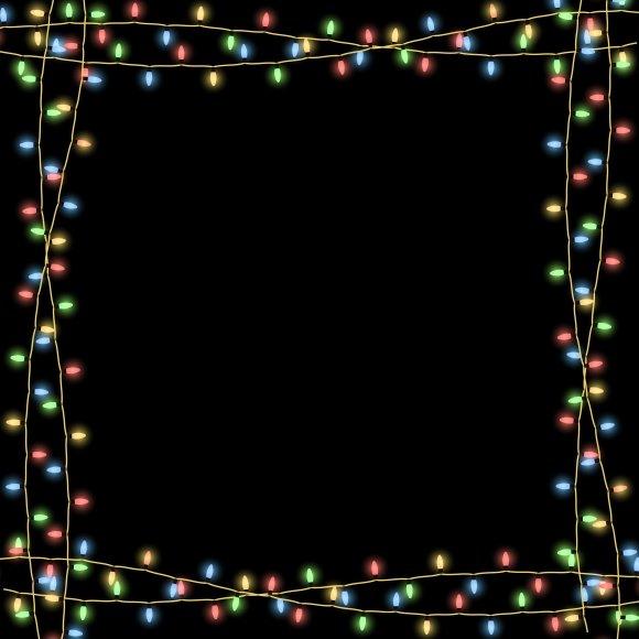 Christmas Garlands Vector Frame