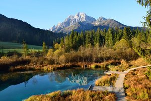 Beatiful Autumn Scenery in Mountains