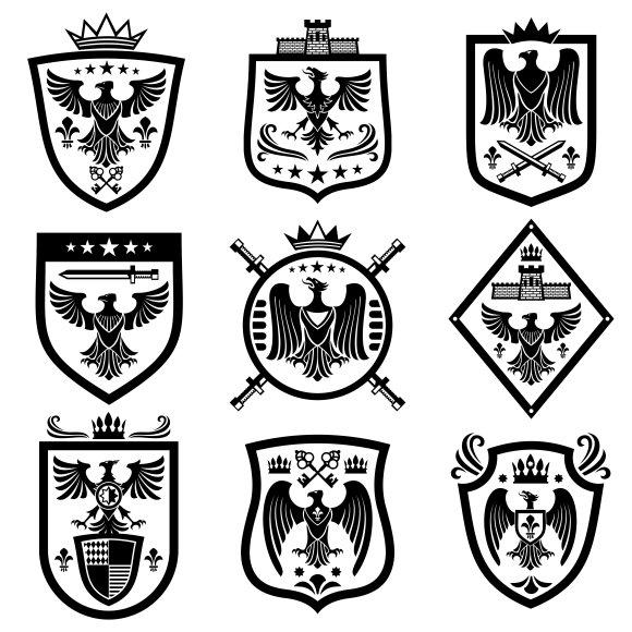 Medieval Eagle Heraldry Emblems
