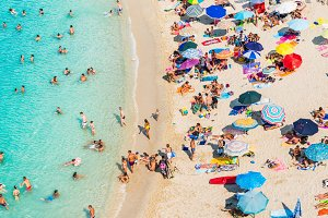 Italy, beach in Tropea, Calabria.