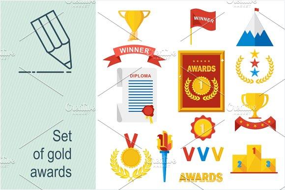 Set of gold awards