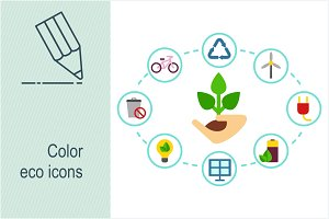 Color eco icons