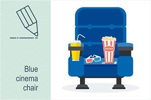 Blue cinema chair