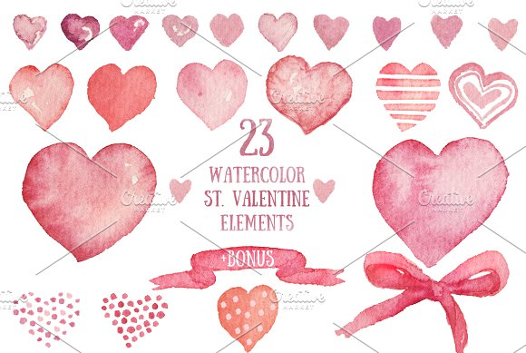 Valentine's Day Set Of Elements