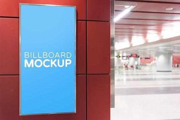 Subway Billboard Mockup #5
