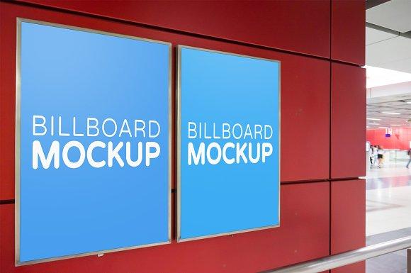 Subway Billboard Mockup #7