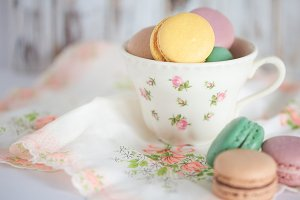 cookies and teacup