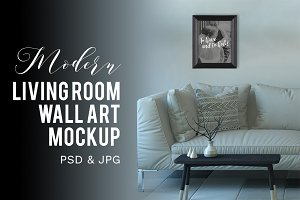 Modern Living Room Wall Art Mockup