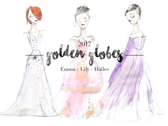 Golden Globes Watercolor