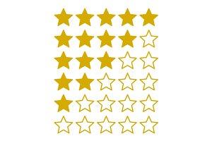 Simple Rating Stars Set