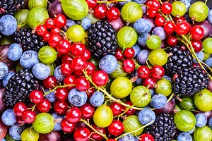 Berries background.