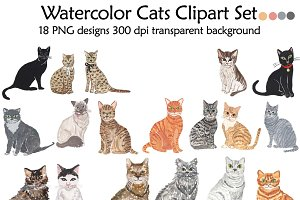 Domestic Animal clipart, Cat clipart