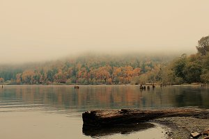 Foggy Fall Morning on the Lake