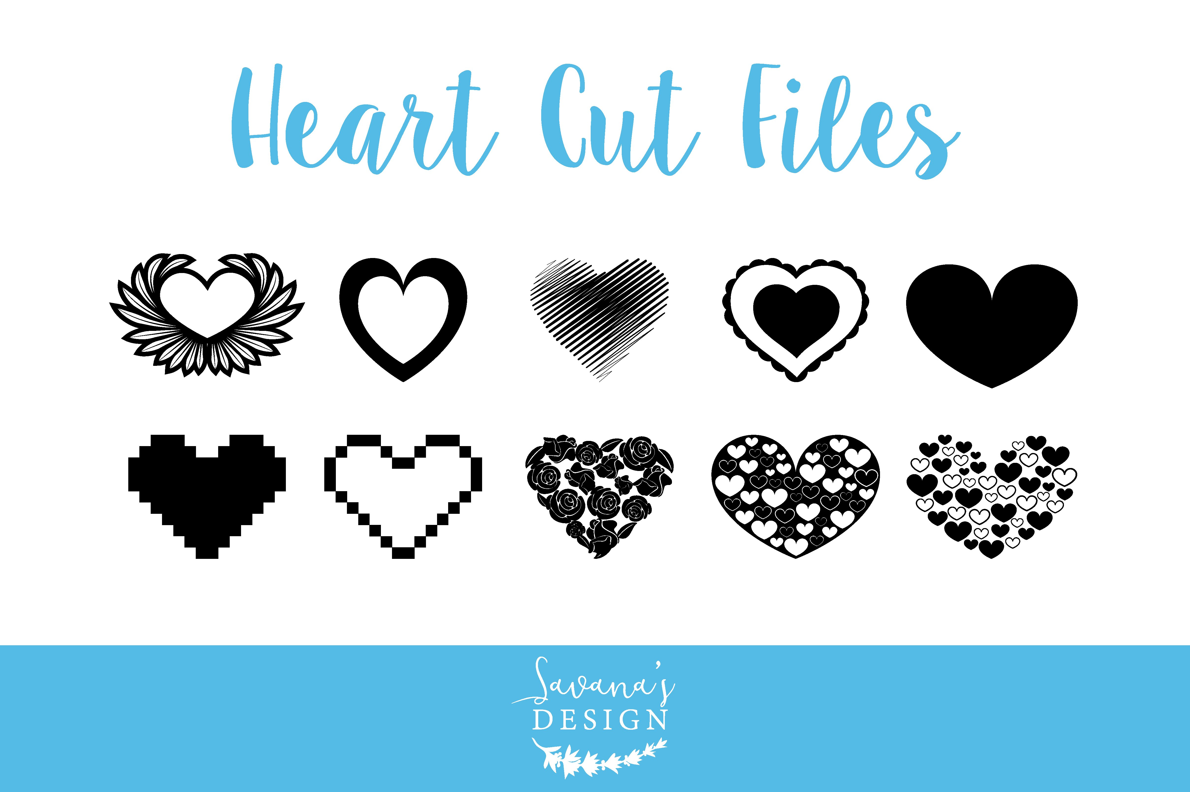 Heart Cut Files In Svg And Eps Pre Designed Illustrator Graphics Creative Market